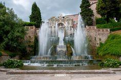Water Fountains in Villa d Este, Italy