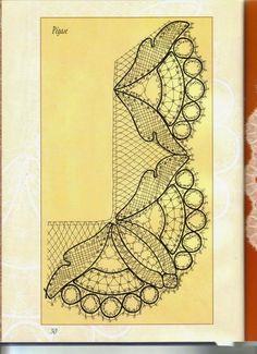 la dentelle de Bayeux - Line B - Picasa Web Album Cutwork Embroidery, Cross Stitch Embroidery, Filet Crochet, Irish Crochet, Romanian Lace, Bobbin Lacemaking, Lace Art, Bobbin Lace Patterns, Parchment Craft