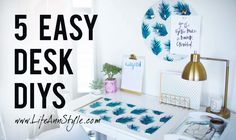 DIY: Amazing Easy PIN BOARD with other 5 idea for office and work space