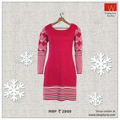 Bright #pink can make a definite statement this winter. #Wwear :) http://www.shopforw.com/categoryProducts.php?catID=184&maincatName=Winter&smallCat=Winter%20Kurta