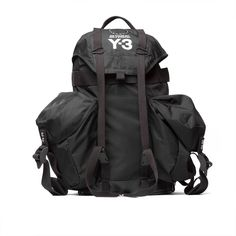 de2ece9f031d Utility backpack from the F W2018-19 Y-3 by Yohji Yamamoto collection.  Black BackpackYohji YamamotoBackpacksBackpack Bags BackpackBackpackingBackpacker