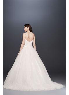 Beaded Illusion Bodice Ball Gown Wedding Dress V3849