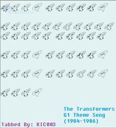 The Transformers Theme Song Ocarina Tabs, Ocarina Music, Easy Sheet Music, Music Sheets, Transformers G1, Theme Song, Random Things, Fantasy, Songs