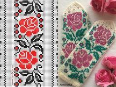 Crochet Mittens Free Pattern, Crochet Gloves, Knit Mittens, Knitting Socks, Hand Knitting, Knit Crochet, Motif Fair Isle, Fair Isle Chart, Knitting Charts