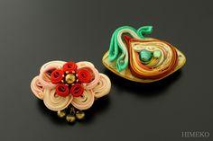 つまみ細工・帯留め● silk art HIMEKO facebookpage https://ja-jp.facebook.com/himekosilkart ● http://www.a-yarn.com/