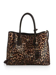6011ee3d77dd Prada - Cavallino Calf Hair Double Bag. Jewel MakeupTote HandbagsPrada ...