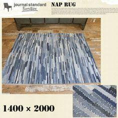 送料無料 デニムパッチワークラグ カーペット 絨毯 140×200   SMART SHOPPIN'