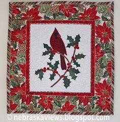 Free Christmas Cardinal Quilt Pattern http://nebraskaviews.blogspot.com/2012/12/christmas-cardinal.html