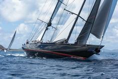 Powered up. Photography Jeff Brown. #regatta #superyacht #sailing #BVIs