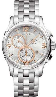 @hamiltonwfan Jazzmaster Chrono Quartz #360-image-yes #bezel-fixed #bracelet-strap-steel #brand-hamilton #case-material-steel #case-width-42mm #chronograph-yes #date-yes #delivery-timescale-7-10-days #dial-colour-silver #gender-mens #luxury #movement-quartz-battery #official-stockist-for-hamilton-watches #packaging-hamilton-watch-packaging #subcat-jazzmaster #supplier-model-no-h32612155 #warranty-hamilton-official-2-year-guarantee #water-resistant-100m