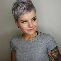 Pixie haircut is really appealing and perfect idea for ladies who want to change their looks completely. So today I will show you the latest pixie haircut. Hairstyles For Round Faces, Short Hairstyles For Women, Cool Hairstyles, Everyday Hairstyles, Hairstyle Ideas, Style Hairstyle, Decent Hairstyle, Woman Hairstyles, Layered Hairstyles