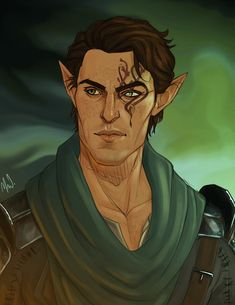 Lucian (minus the face tattoo) // Almar Lavellan by Merwild on DeviantArt //
