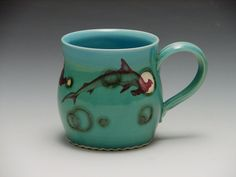 Hammerhead Shark Mug/ Made to order pottery by cephalopodink