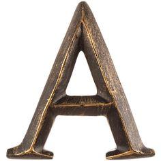 "4"" Bronze Polystone Letter | Hobby Lobby"