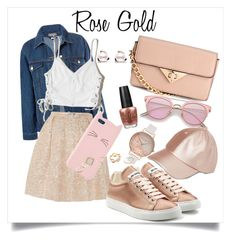 """Rose Gold✨"" by starup ❤ liked on Polyvore featuring OPI, Sans Souci, Rochas, Hollister Co., Jil Sander, H&M, Charlotte Russe, Olivia Burton and GUESS"