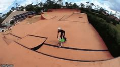 17.) A bike/skate park: Pro BMX rider Mike Spinner built this 11,000 square foot park behind his house.