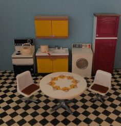 VINTAGE 1970'S LUNDBY/BARTON DOLLS HOUSE KITCHEN FURNITURE in Dolls & Bears, Dolls' Miniatures & Houses, Vintage Items | eBay