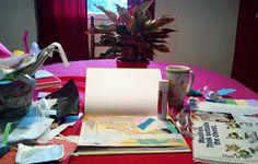 Glue it Tuesday: beginning a gluebook page