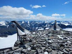 From the summit of Mount Galdhøpiggen (2469), Norway.