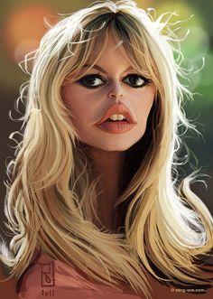 Brigitte Bardot, Celebrity Computer Caricatures - Faces 3 by Alberto Russo Reinterprets Famous Features (GALLERY) Cartoon Faces, Funny Faces, Cartoon Art, Funny Caricatures, Celebrity Caricatures, Brigitte Bardot, Bridget Bardot, Caricature Drawing, Funny Cartoons