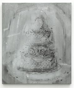 Michael Raedecker, Stock, acrylic and thread on canvas, 100 x 85 cm Light Of Life, Painting Still Life, Textile Design, Contemporary Art, Black And White, Canvas, Gallery, Drawings, Pictures