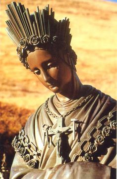 A statue of Our Lady of La Salette