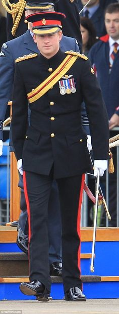 Prince Harry praised the RAF's 'determination and professionalism' in the fight against terrorism.