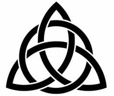 Classic Trinity Knot Tattoo Stencil