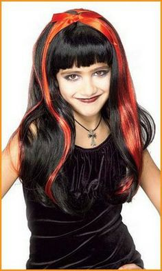 Goth Doll Wig Vampire Gothic Dress Up Halloween Child Costume Accessory 2 Colors Mean Girls Costume, Little Girl Costumes, Red Costume, Costume Wigs, Halloween Hair, Halloween Costumes For Kids, Halloween Accessories, Costume Accessories, Kids Wigs