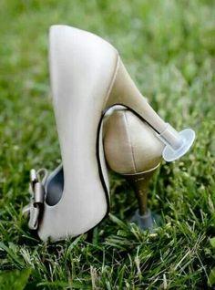 Bridesmaids on grass