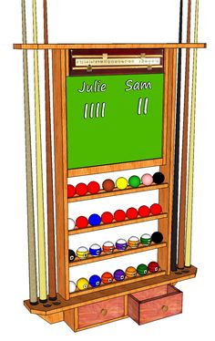 1000 images about pool problem on pinterest pool for Cue rack plans