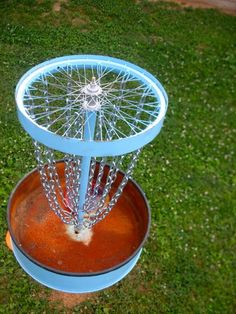36 Awesome homemade disc golf basket images