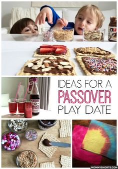 Project Play Date: Passover Edition - Ideas for snacks, crafts and a cocktail for the Grown-ups for a Passover-themed play date