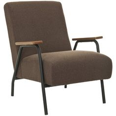 Reuben Armchair Brown now featured on Fab.