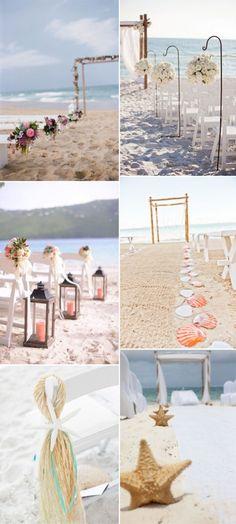 beach themed wedding aisles for summer wedding ideas