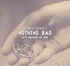 """""""It's a Mockingjay pin. As long as you have it, nothing bad will happen to you."""""""