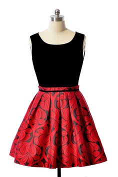Red Jacquard Skirt Princess Dress <3