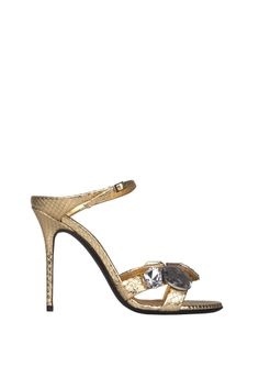 ba92f4b9af14d Giuseppe Zanotti diamond leather sandals gold laminated python-embossed  calf leather upper