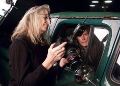 There is no photographer whose work creates such a sense of atmosphere as Annie Leibovitz. There aren't many female photographers, which makes her fame even more amazing. Here she is working with Clint Eastwood.