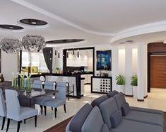 Aranżacje wnętrz - Salon: Dom w stylu glamour - Średni salon z kuchnią z jadalnią - APP TRENDY Autorska Pracownia Projektowa. Przeglądaj, dodawaj i zapisuj najlepsze zdjęcia, pomysły i inspiracje designerskie. W bazie mamy już prawie milion fotografii!