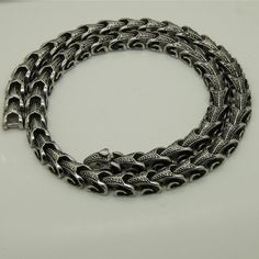 316L Stainless Steel Viking Dragon Chain varies in length | Etsy Dragon Bracelet, Dragon Necklace, Star Necklace, Men Necklace, Necklace Sizes, Necklace Lengths, Viking Dragon, Mens Sterling Silver Necklace, Silver Dragon