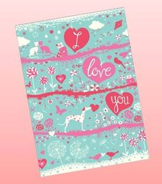 I Love You greetings card from Phoenix Trading £1.75 each or £1.40 when buying 10 or more. Anniversary, Valentines