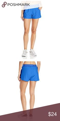 """Under Armour Women's Play Up Short 2.0 Soft, lightweight knit construction delivers superior comfort & breathability. Signature Moisture Transport System wicks sweat to keep you dry & light. Soft, exposed elastic novelty waistband. Shaped crossover hem with bartack detail. Side hand pockets. 3"""" inseam. Under Armour Shorts"""