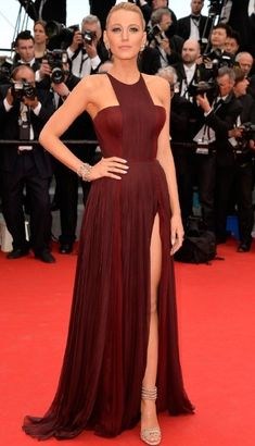 BLAKE LIVELY- MAROON GOWN