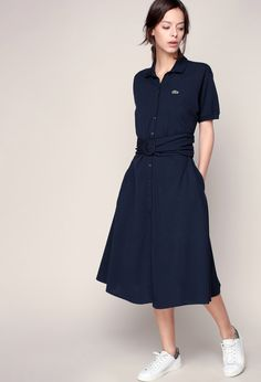 Robe polo Lacoste Style Désinvolte Chic, Style Casual, Casual Chic, Work Fashion, Modest Fashion, Fashion Looks, Women's Fashion, Korean Fashion Summer Street Styles, Fashion Bible