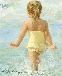 "Joe Bowler, ""Splash""- Morris & Whiteside Galleries - The joy of youth; the freedom of summer"