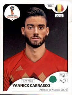 Yannick Carrasco - Bélgica World Cup Russia 2018, World Cup 2018, Fifa World Cup, Uefa Football, Soccer Cards, Beautiful Men Faces, America's Cup, Brazil, Sports
