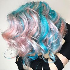 """1,765 Likes, 11 Comments - Hair Makeup Nails Beauty (@hotonbeauty) on Instagram: """"Pink and Turquoise? Sign us up! Hair by the lovely @chitabeseau  #hotonbeauty . . . .…"""""""