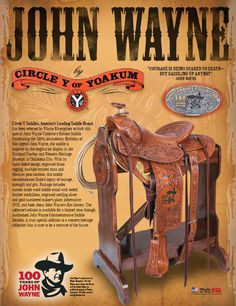 Circle Y Saddles - Western Saddles, Trail Riding Saddles, Barrel Sadles, Roping Saddles I would like one of these John Wayne Quotes, John Wayne Movies, Roping Saddles, Horse Saddles, Cowboy Films, Trail Riding Horses, League Of Extraordinary Gentlemen, Maureen O'hara, Iowa