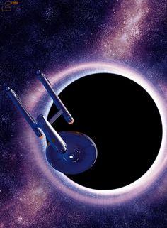 "scifiandfantasyuniverse:The USS Enterprise ""Star Trek"" Star Trek Beyond, Star Trek Tos, Arte Sci Fi, Sci Fi Art, Nave Enterprise, Vaisseau Star Trek, Walker Star Wars, Science Fiction, Cosmos"